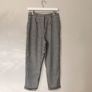 NWT Nasty Gal Gingham Pants